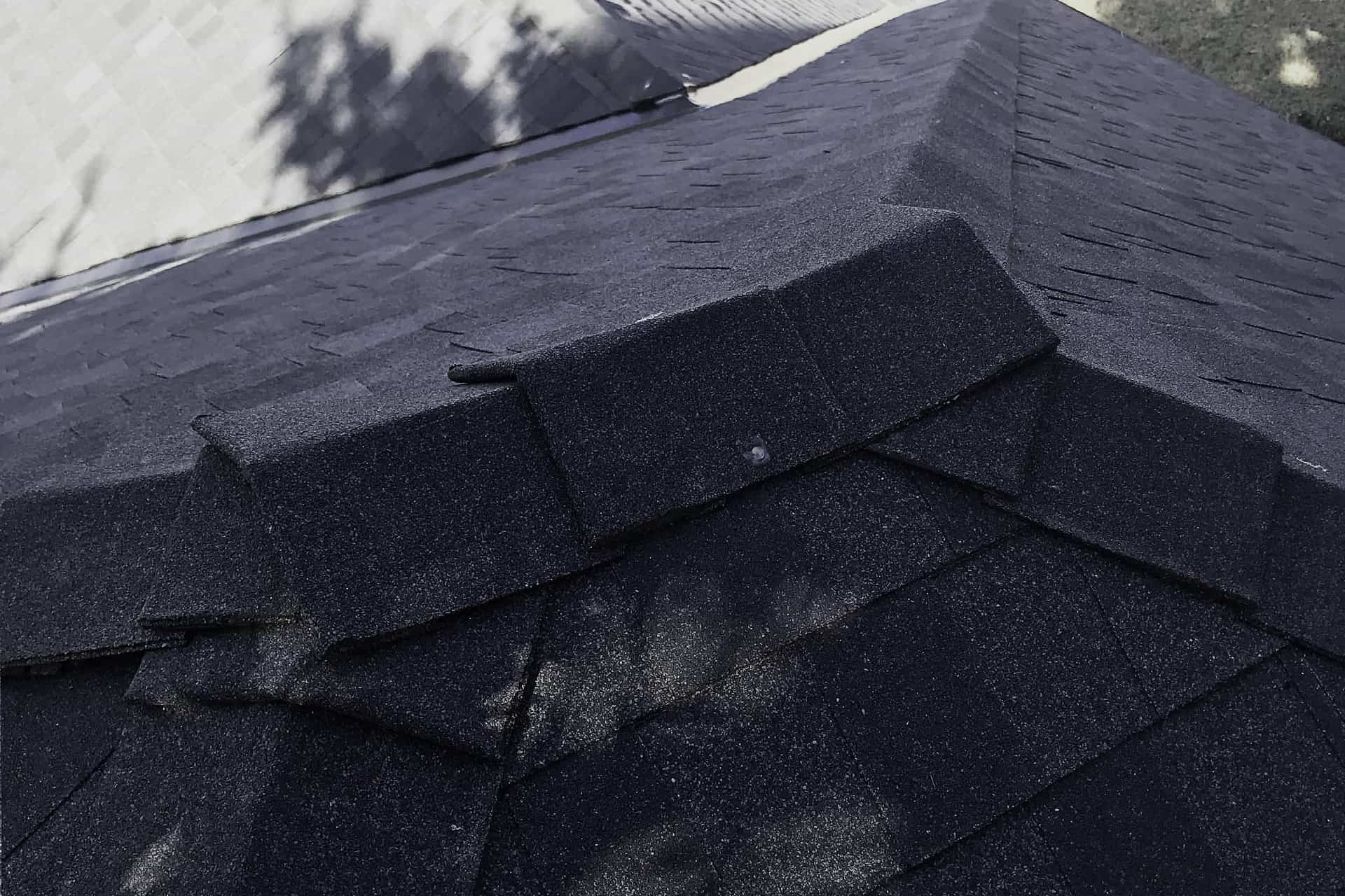 Anderson roofing project - top view