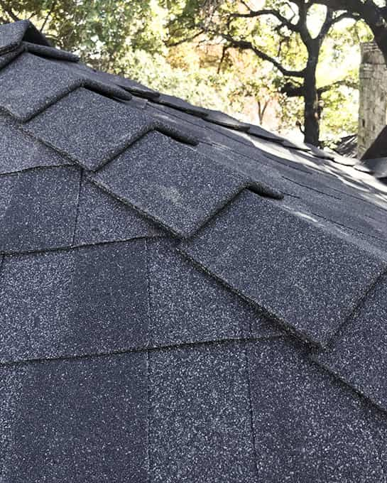 Anderson roofing project - ridge