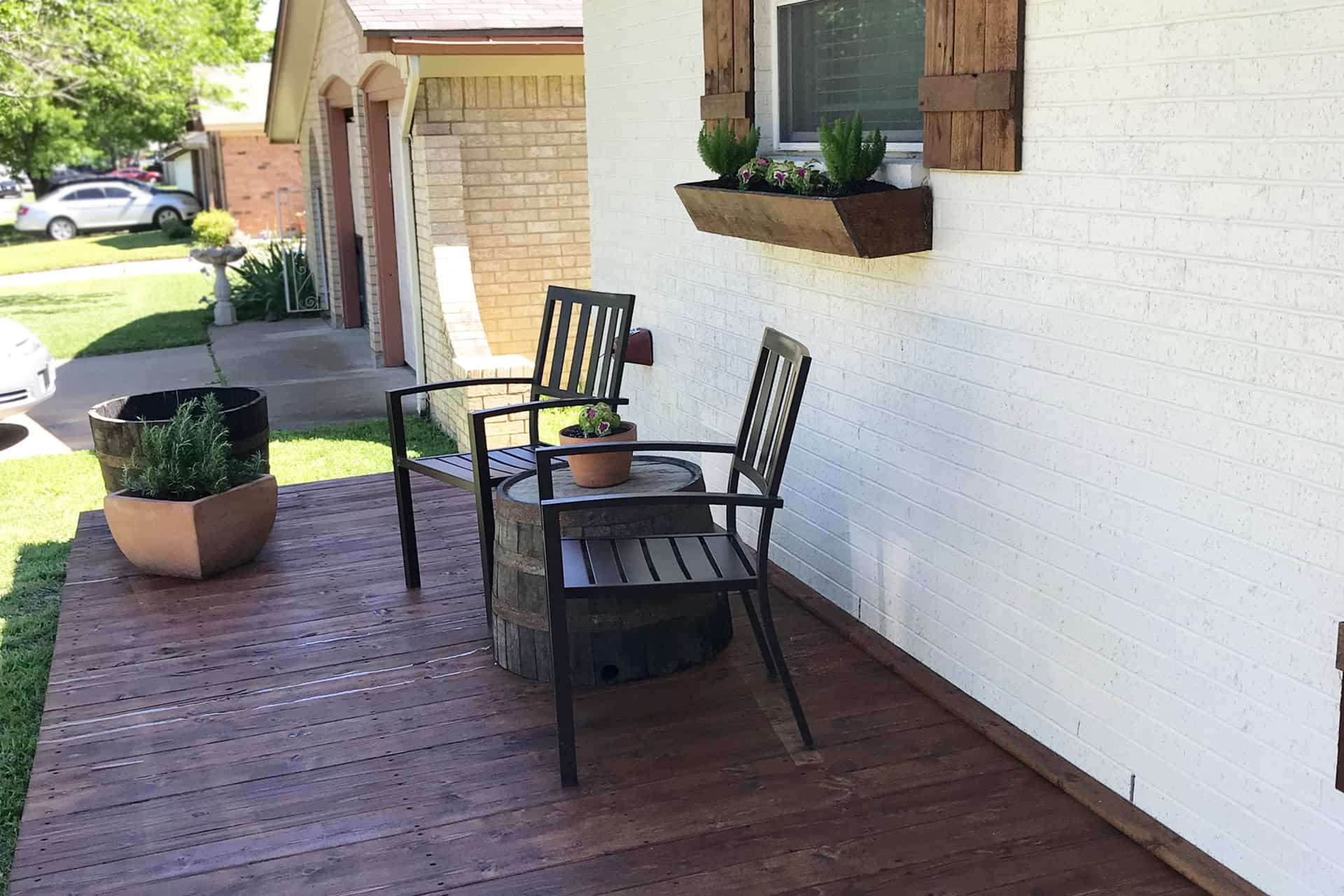 Burleson deck project