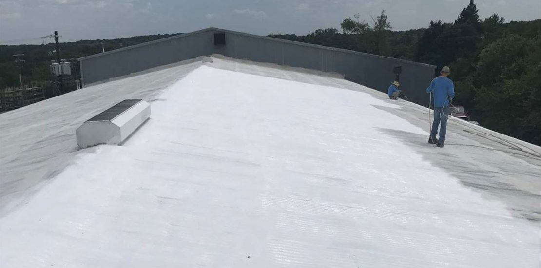 Commercial elastomeric roofing project